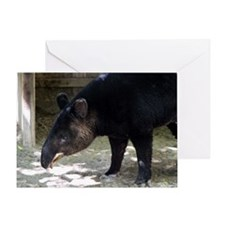 Mountain Tapir with its tongue out Greeting Card