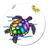 Turtle Round Car Magnets