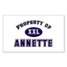 Property of annette Rectangle Decal