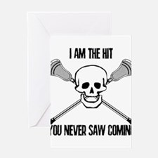 Lacrosse Never Saw Greeting Card