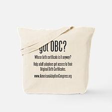 got obc steelfish black copy Tote Bag