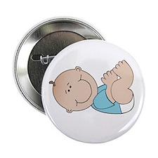 "Baby White 2.25"" Button"