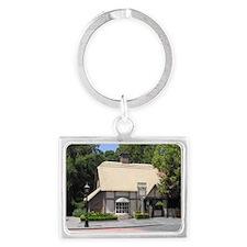 Cap-Mil-English Cottage Landscape Keychain