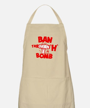 """Ban the """"H"""" Bomb - Red BBQ Apron"""