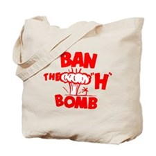 "Ban the ""H"" Bomb - Red Tote Bag"