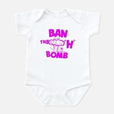 "Ban the ""H"" Bomb - Fuschia Infant Bodysuit"