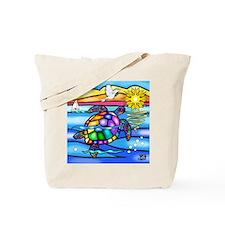 Sea Turtle 8 - square Tote Bag
