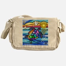 Sea Turtle 8 - square Messenger Bag