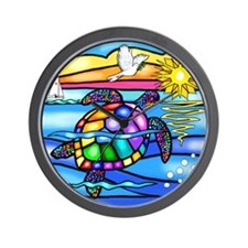 Sea Turtle 8 - square Wall Clock