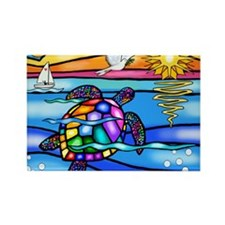 SeaTurtle 8 - MP Rectangle Magnet