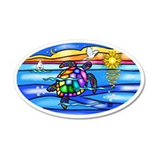 SeaTurtle 8 - OVAL Wall Decal