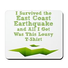 earthquake-tshirt Mousepad