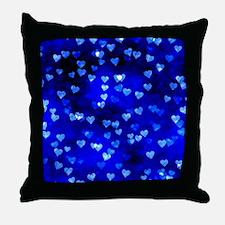 BlueHearts Throw Pillow