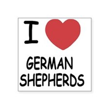 "GERMAN_SHEPHERDS Square Sticker 3"" x 3"""