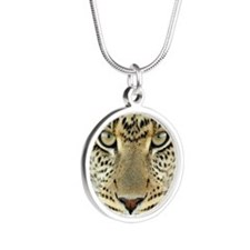 Leopard Silver Round Necklace