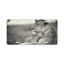 Mother Lion Aluminum License Plate