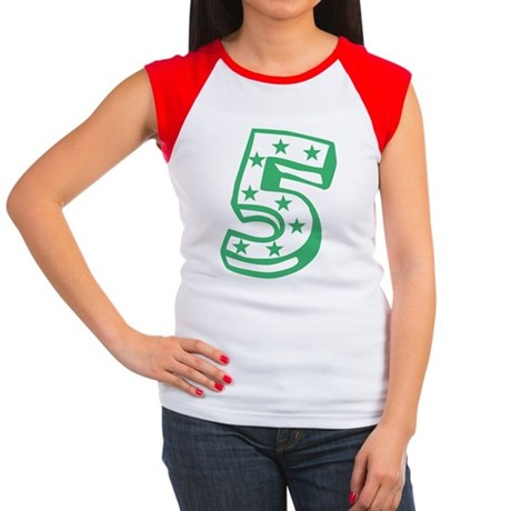 5 green Women's Cap Sleeve T-Shirt