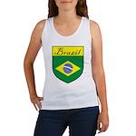 Brazil Flag Crest Shield Women's Tank Top