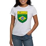Brazil Flag Crest Shield Women's T-Shirt