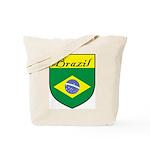 Brazil Flag Crest Shield Tote Bag