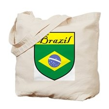Brazil Flag Crest Shield Tote Bag