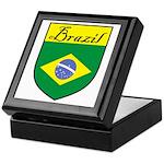 Brazil Flag Crest Shield Keepsake Box