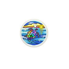 SeaTurtle 8 - round-BIG Mini Button