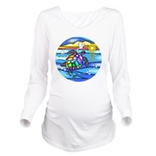 SeaTurtle 8 - round- Long Sleeve Maternity T-Shirt