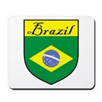 Brazil Flag Crest Shield Mousepad