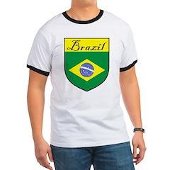 Brazil Flag Crest Shield T