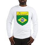Brazil Flag Crest Shield Long Sleeve T-Shirt