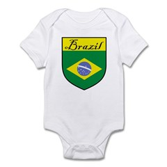 Brazil Flag Crest Shield Infant Bodysuit