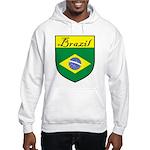 Brazil Flag Crest Shield Hooded Sweatshirt