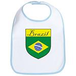 Brazil Flag Crest Shield Bib