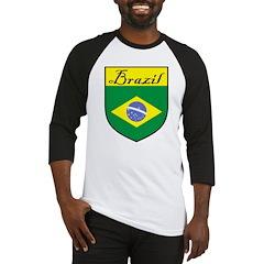 Brazil Flag Crest Shield Baseball Jersey