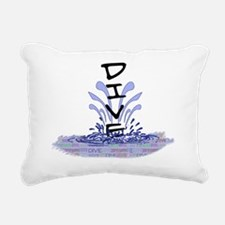 diveWords Rectangular Canvas Pillow
