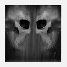 FlipFlop_AggressiveSkull_GRY Tile Coaster