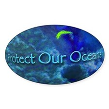Protect Our Oceans Oval Decal