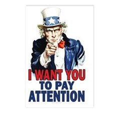 11x17_unclesam_Pay_attent Postcards (Package of 8)