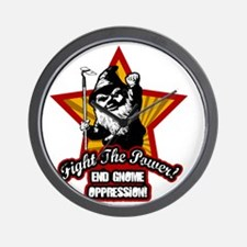 Fight The Power Gnome Wall Clock