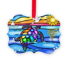 SeaTurtle8 - with dove Ornament