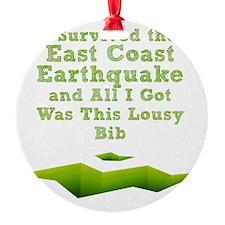 earthquake-bib Ornament