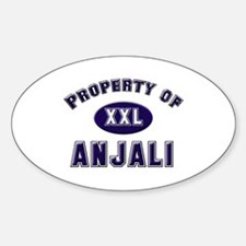 Property of anjali Oval Decal