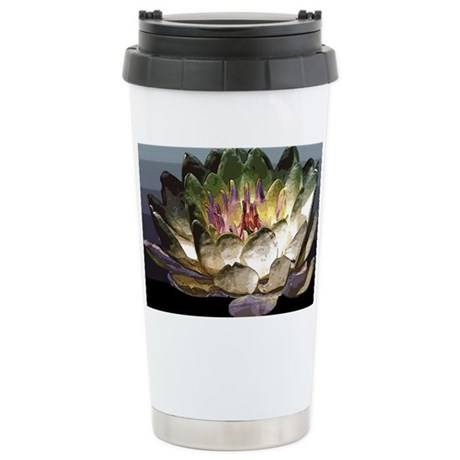 Lily Painting Stainless Steel Travel Mug
