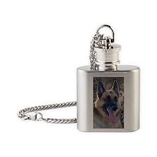 Card-Bear Flask Necklace