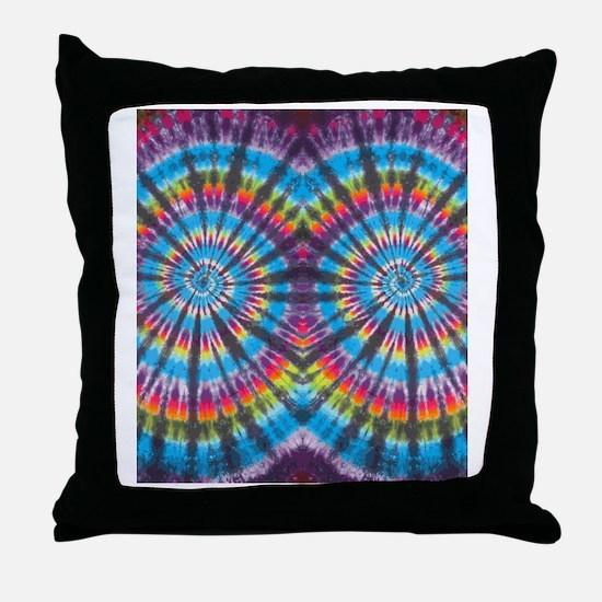Rainbow Swirl FF Throw Pillow