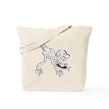 Dinosaur Eating Fish Tote Bag