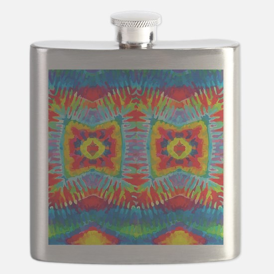 Colorful Tie-Dye Flask