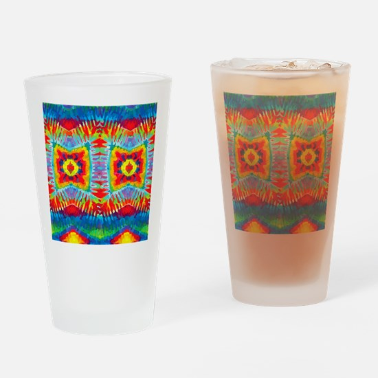 Colorful Tie-Dye Drinking Glass