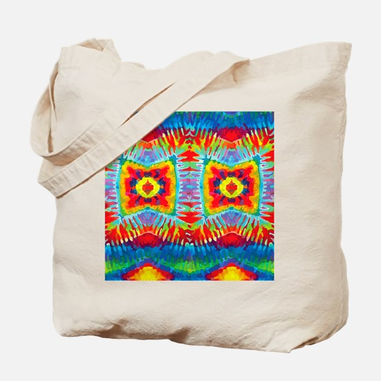 Colorful Tie-Dye Tote Bag